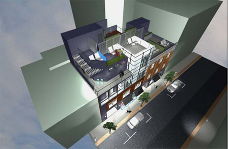 bond street buildings-roof rendering