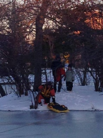 Sunset lake ice rescue 2