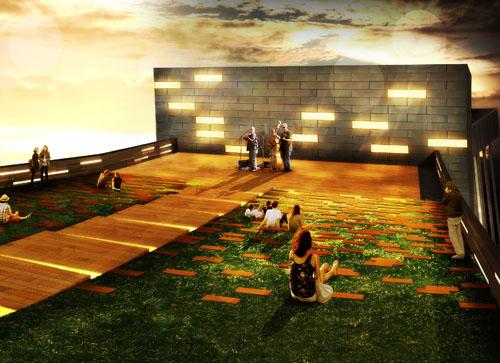 Asbury JAMS rooftop rendering