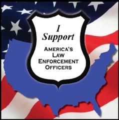 law enforcement support badge
